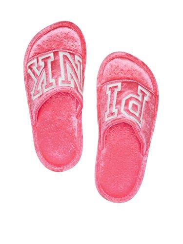 Pink Victorias Slippers Secret Neon Hot Victorias Medium Secret Velvet Pink 47fTqnYw