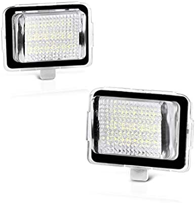 2-Pieces VIPMOTOZ Full LED Side Under-Mirror Puddle Light Lamp Assembly Replacement For Mercedes-Benz W204 W212 W221 C219 X156 W242 W246 6000K Diamond White
