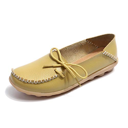 Leather Tie Mesh - Kyle Walsh Pa Women Flats slipony Genuine Leather Shoes Slip on Ballet Bowtie Moccasins Casual Comfortable Shoes