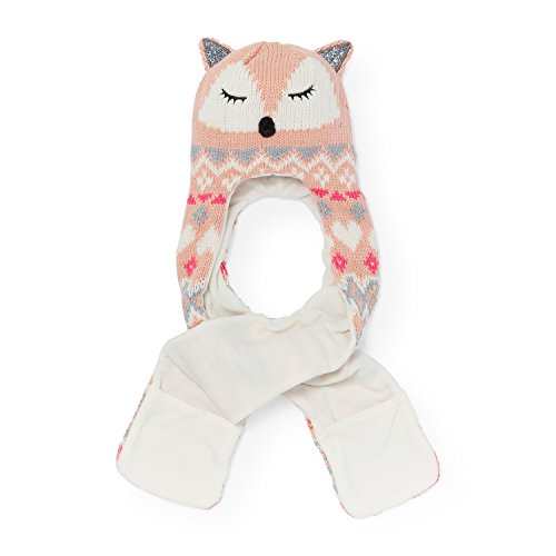 The Children's Place Big Girls Fox Hat AND Scarf Cold Weather Set, rose dust, L/XL(8+YR)