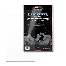 BCW Current Comic Mylar Bags 2 Mil (50 Bag(s) per Pack) - Comics, Comic Books Archival Storage Collecting Supplies