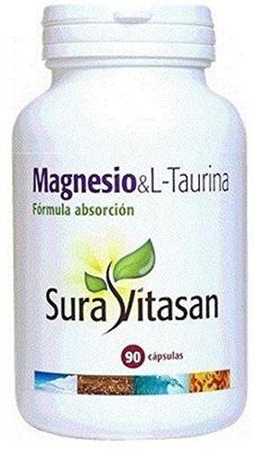 Magnesio y L-Taurina 90 cápsulas de Sura Vitasan: Amazon.es: Salud y cuidado personal