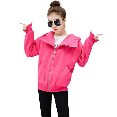 Dreamworldeu - Abrigo - para mujer Hot Pink