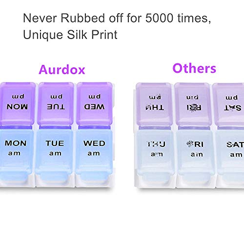 Twice a Day Detachable Weekly Pill Organizer with AMPM Compartments Large BPA Free Travel 7 Day Pill