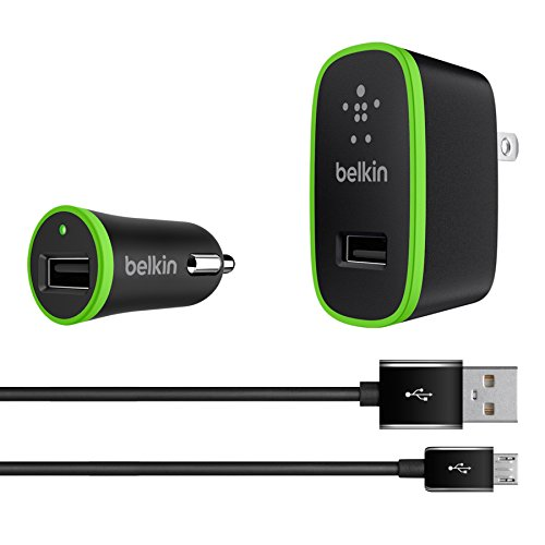 Belkin Micro USB Bundle 2.4A USB Home Charger and Car Charge