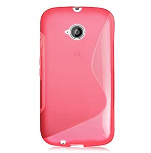 funda silicona dura TPU fina compatible Motorola Moto E2 2ªGen rosa
