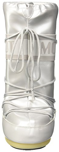 Adults' Snow Vinile White Boot Moon Boots Met Unisex Bianco HqBnU7