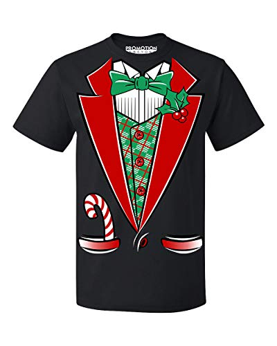 Promotion & Beyond Christmas Santa Black Tuxedo Men's T-Shirt, 2XL, - Christmas Tuxedo