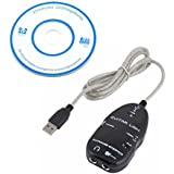 SODIAL(R) New Promotions Guitar to USB Interface Link Audio Cable PC/MAC Recording Adapter