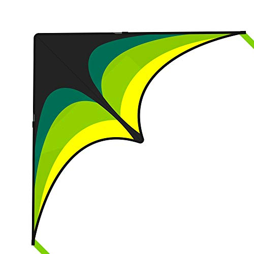 Mint's Colorful Life Delta Kite for Kids & Adults, Extremely Easy to Fly Kite with 2 Ribbons and 300ft Kite String, Best Kite for Beginners