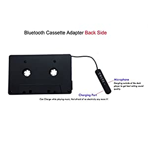 iTape cassette adapter Car Bluetooth Audio Receiver work while charging support TF card