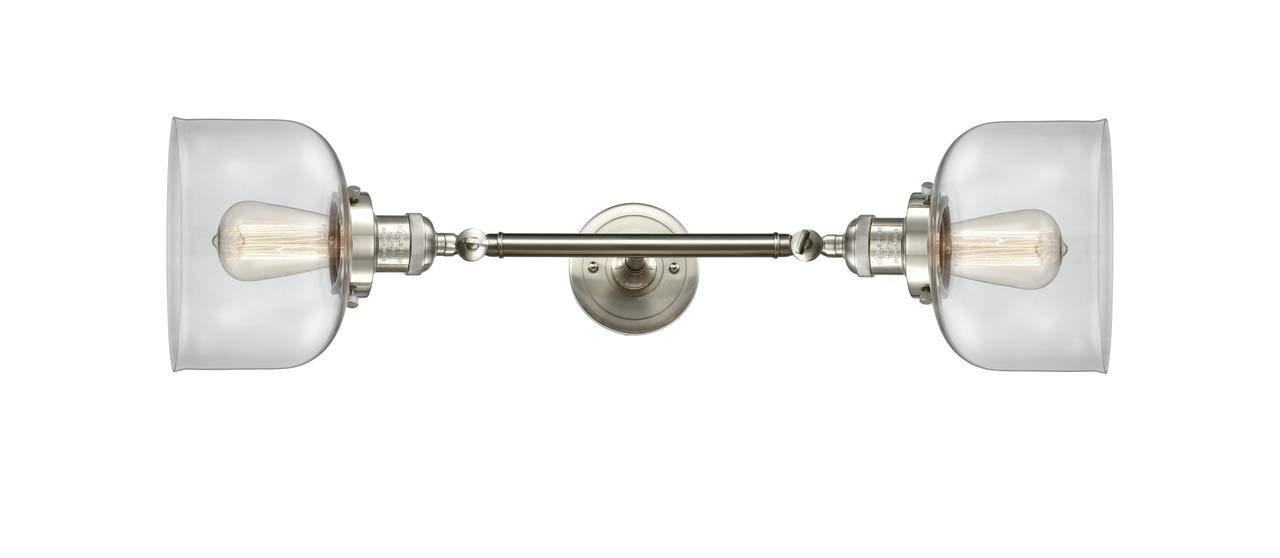 Innovations 208L-SN-G72-LED 2垂直バス化粧台ライト つや消しサテンニッケル B07GLP4HVC