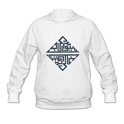 HAGB4K Women Georgetown University Washington, DC Hoodies White Sweatshirt