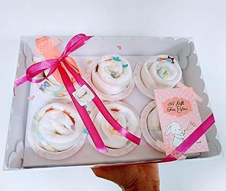 Caja Elegante con Cupcakes hechos con Pañales DODOT | Baby Shower ...