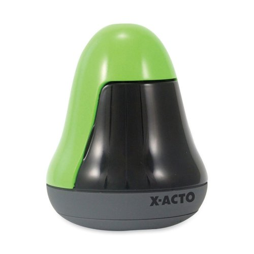 X-ACTO Wobble Topple Battery-Powered Pencil Sharpener, Apple Green (1753)