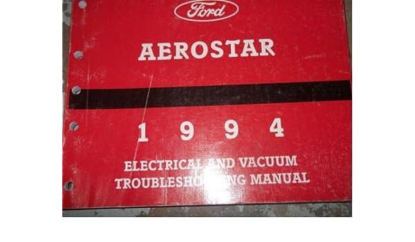 1994 FORD AEROSTAR VAN Wiring Diagrams Electrical Service ...  Aerostar Wiring Diagram on