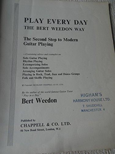 Play Every Day the Bert Weedon Way: Amazon co uk: Bert Weedon: Books