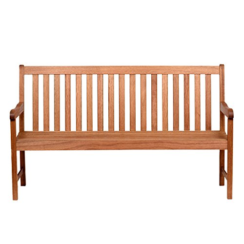 Amazonia Milano 5-Feet Patio Bench | Eucalyptus Wood | Ideal for Outdoors...