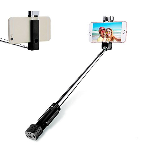 (Loving Smile Bluetooth Selfie Stick Holder, Cell Phone Selfie Button Stick for iPhone, Android, Mobile Phone(Black) )