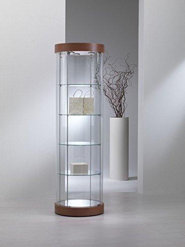 Vitrine Vitrine Showcase Kreissägeblatt Werkbank Glas Geschäft oder Haus mit Beleuchtung