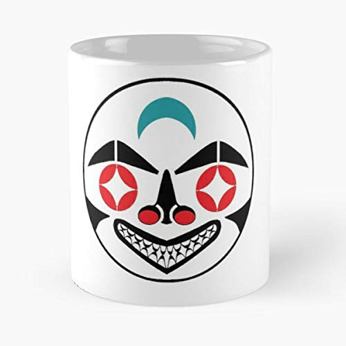 Pacific Northwestern Tribal Sun Warrior Mask Totem Seattle - Funny Sophisticated Design Great Gifts -11 Oz Coffee Mug.the Best Gift For Holidays.