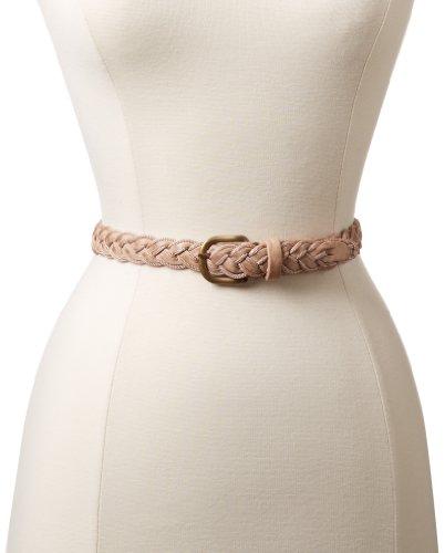 Lola Belt (Motif 56 Women's Lola Belt, Natural/Coral, Medium)