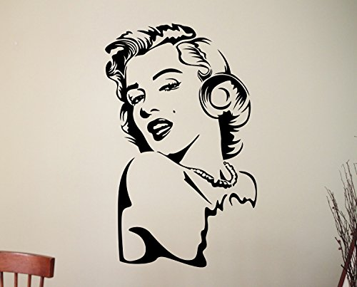 Sexy Marilyn Monroe Wall Sticker Vinyl Decal Hollywood Actress Home Interior Decorations Woman Art Room Bedroom Beauty Salon Decor - Glasses With Hollywood Actress