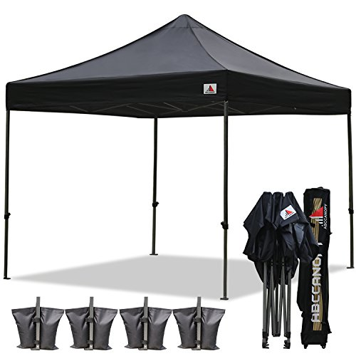 (18+Colors)ABCCANOPY Commercial 10X10 FT Outdoor Pop Up Portable Shelter Instant Folding Canopy Tent (BLACK)