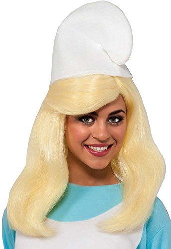(Womens Smurfs The Lost Village Smurfette Wig Costume)
