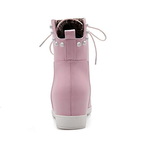 Stivaletti Tacco Basso In Pelle Morbida All-around In Pelle Morbida Allhqfashion Rosa