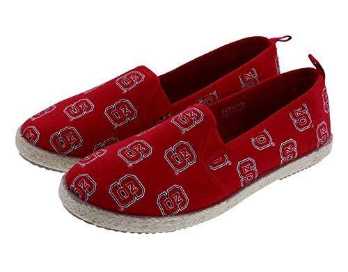 North Carolina State Wolfpack NCAA Womens Canvas Espadrille Shoes - Medium