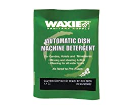 Waxie 322100-60 Automatic Dish Machine Detergent, 1.4 oz. Packet (Case of 100)