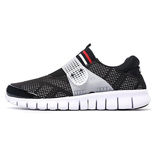 onemix 1138 - Zapatillas de running de Caucho para hombre, color negro, talla 40