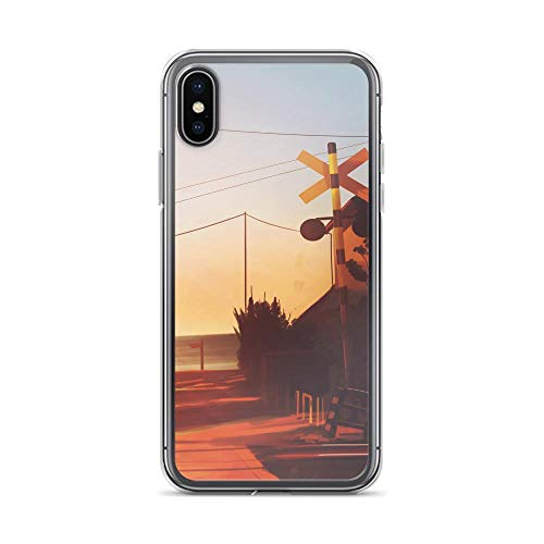 Mango Enamel (iPhone X/XS Pure Clear Anti-Shock Case Japanese Comic Manga Railway Track Anime Originalwork Anime Japan Kawaii)