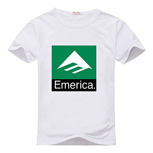 Emerica Combo (Fancesca Emerica Men's Combo 10 Logo Men's Classic Top T-shirt L White)