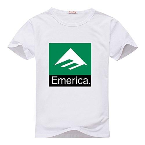 Fancesca Emerica Men's Combo 10 Logo Men's Classic Top T-shirt XXXL White ()