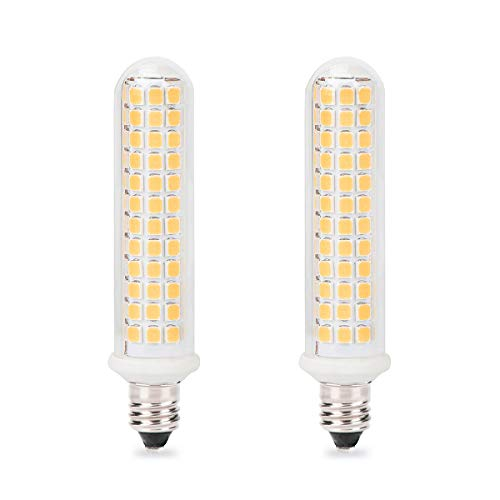 - E11 LED Bulb, Mini Candelabra Base, 100W 120W Halogen Bulb Replacement,10W,1100LM, AC120V, Dimmable E11 LED Light Bulb, Patented Product, for Indoor Decorative Lighting, Warm White 3000K, 2-Pack