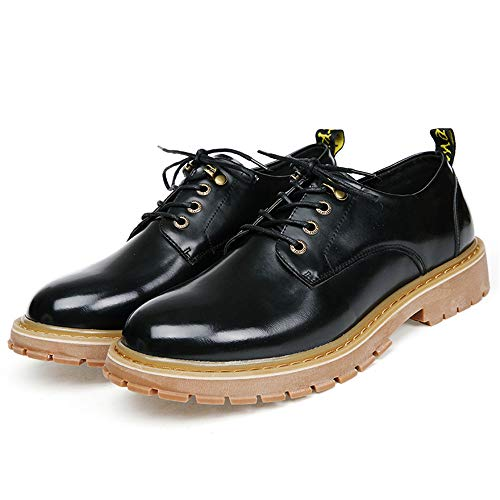 EU Color Stringate da shoes suola 44 Nero Dimensione contrasto Xujw Retro Business Nero scarpe Casual 2018 color Basse Classic Scarpe uomo inglese Oxford formali a stile SnxxRf0d