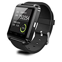 U Watch U8 Bluetooth Smart Watch Support Android Mobile Phone (Black)