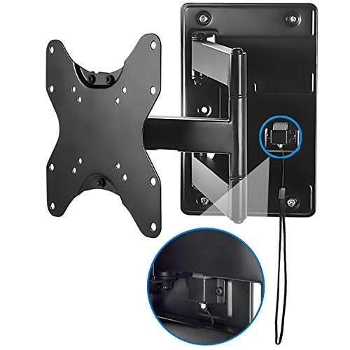 "Mount-it! Lockable RV TV Wall Mount with Quick Release, Full Motion Flat Screen Bracket for Campers, Travel Trailers, RVs, Motorhomes and Marine Boats, Fits Most 23-43"" VESA 100, 200, 77 Lbs Capacity"