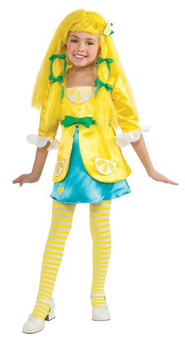 Rubies Strawberry Shortcake and Friends Deluxe Lemon Meringue Costume, Toddler - Deluxe Strawberry Shortcake Wig For Women