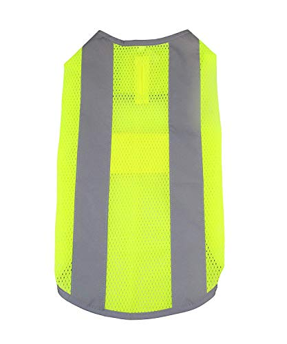 Midlee Mesh Reflective Dog Safety Vest 20-23.5' Chest (Dog, X-Small)