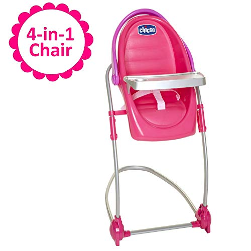 Baby Doll High Chair & Swing Gift Set, 4-in-1 Chair for Baby Dolls, For Up To 18-Inch Baby Dolls, Transforms Into Baby Doll High Chair, Baby Doll Swing, Baby Doll ()