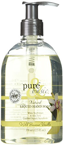 PURE & BASIC PRODUCTS Banana Vanilla Liquid Hand Soap, 0.02 Pound (Usa Sale Banana For In Leaves)