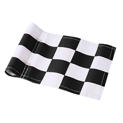 MagiDeal 4pcs 18x12cm Golf Practicing Training Flag Nylon Putting Green Solid Chequered Flags by Unknown (Image #7)