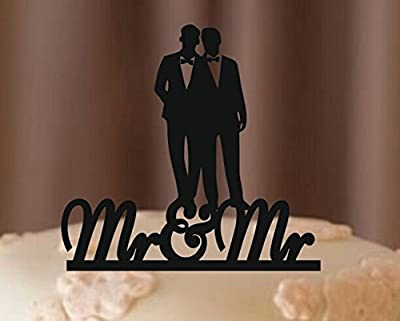 [USA-SALES] MR and MR Gay Cake Topper, Wedding Decorations, By USA-SALES Seller