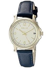 Relic Women's Matilda Strap Navy Leather/Gold Case Watch
