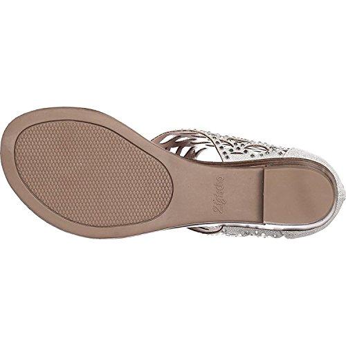 Toe de de de malla Open Sandalias Mujeres plata ZIGI SOHO Casual Mela tiras UqnIIaB6