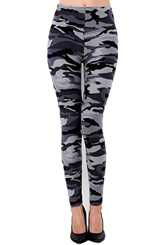 New Mix Trendy U Women's Buttery Soft Leggings, One Size Grey Camouflage - Jet Camouflage Tank Top
