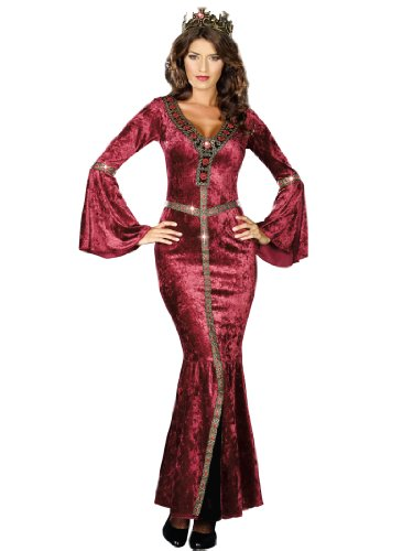 [Sexy Renaissance Costume Dress Medieval Crushed Velvet Women Theatrical Costume Sizes: X-Large] (Authentic Medieval Costumes)